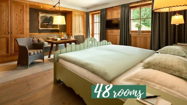 In total with our Chalet Säge we have 48 rooms for you to ...