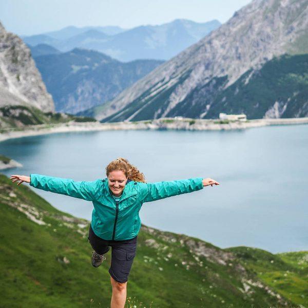 I believe i can fly 😁 🦋 #gafalljoch #lünersee #see #bergsee #berge #bergemitwow ...