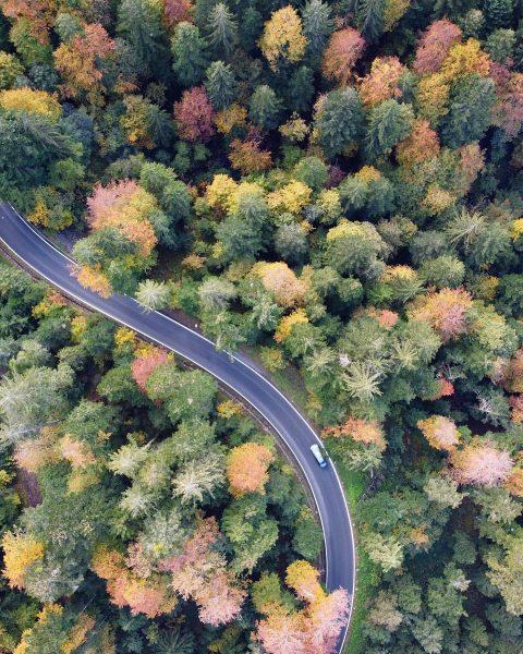 herbst von oben. #bregenzerwald Schwarzenberg im Bregenzerwald