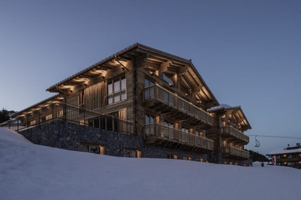 Arula Chalet 2 is perched on the mountainside in a prime ski-in/ski-out location ...