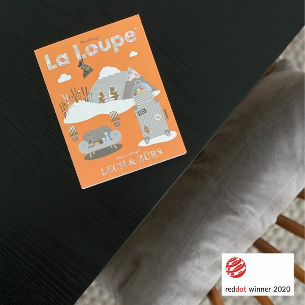One of our winners! @reddot_communicationdesign #laloupe #laloupemagazine #lechzuers #lech #lechamarlberg #skiarlberg #arlberg #printdesign #travelmagazine #lifestyle #designboom #illustration...