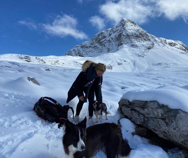out with the dogs Lech, Vorarlberg, Austria