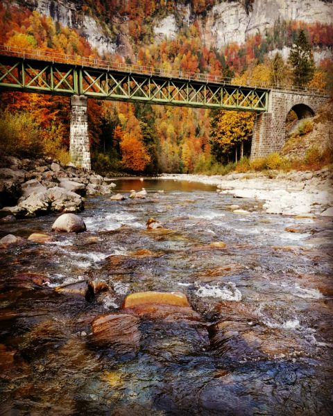 Bregenzerwald Wälderbähnle Brücke #Bregenzerwald #bregenzerwald_fan #Bregenzerach #Brücke #bunterwald #HerbstStimmung #visitvorarlberg #qualitytime #wandern #wanderung ...