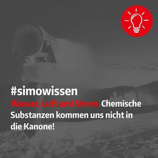 Zur Schneeerzeugung wird nichts weiter verwendet als Luft, Wasser und Strom. Der Einsatz ...