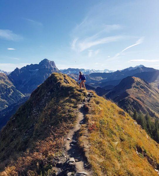 Gratwanderung im Kleinwalsertal ⛰ Was Bergtouren besonders schön machen, sind solche Gratwanderungen, wie ...