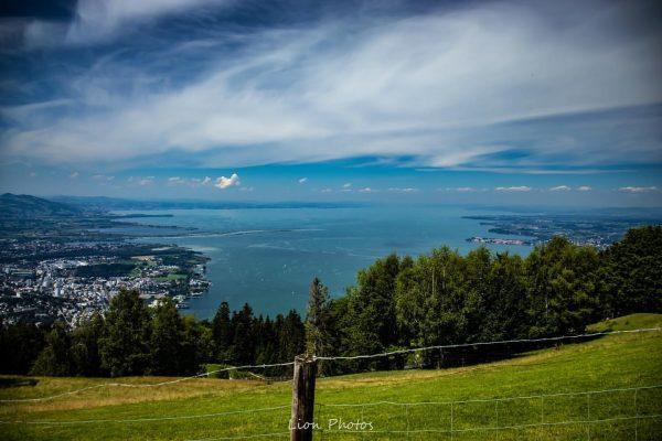 Der Bodensee betrachtet vom Pfänder aus😬 #austria #bregenz #landschaft #berge #gras #wald #landscapephotography ...