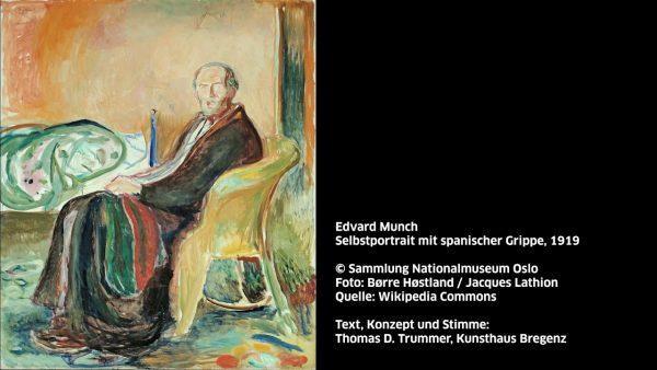 KUB Sonic Views 44: Edvard Munch, Selbstportrait mit spanischer Grippe, 1919