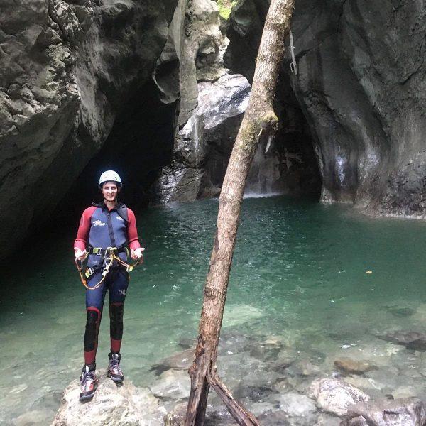 First Canyoning Tour #water #mountain #diving #jumping #slide #freedom #nature #einfachweilsgeilisch Camping Dornbirn