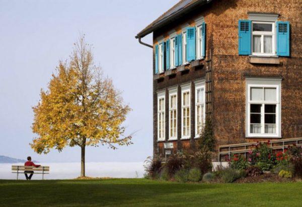 #AUSTRIA / #Vorarlberg / #Rhine-Valley #Bodensee Region / Maria Bildstein / parish hall ...