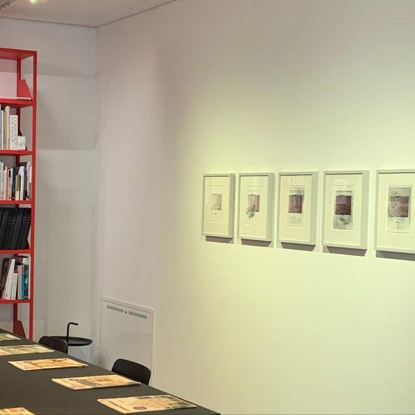 Kunst in der Lesezone mit Werken von Norbert Pümpel. Ab Anfang Dezember 2020 im @vai_architektur_institut @norbertpuempelofficial