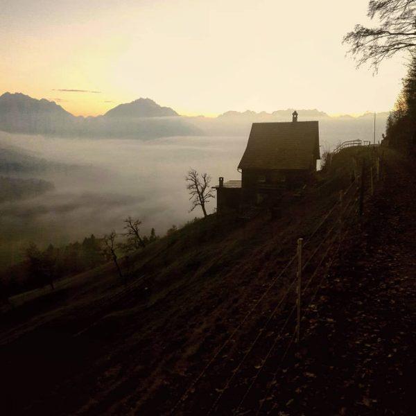 Die letzten Sonnenstrahlen überm Wolkenmeer... #austria #vorarlbergtourismus #hikingtheglobe #hiking #awesomeearth #wanderlust #keepexploring #moodygrams ...