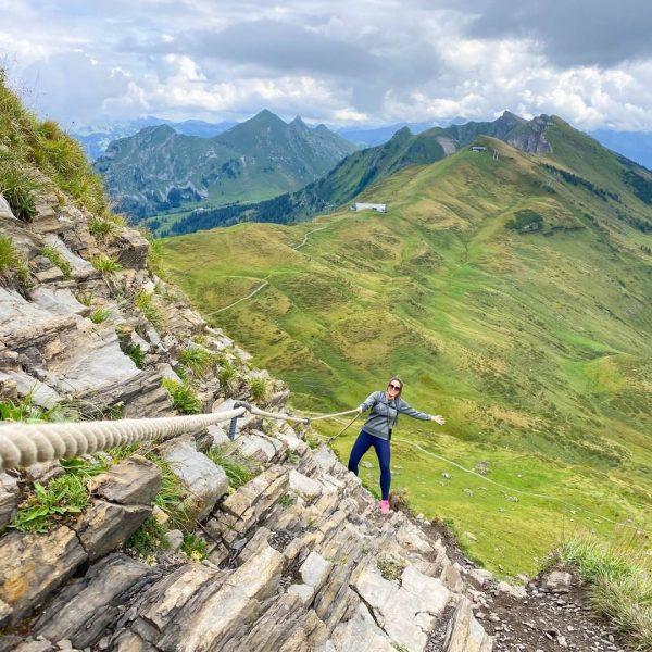 Auch auf solche Routen stößt man in den Bergen ... Bekommst du davon ...