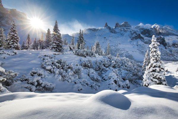 Mit diesem Blick auf die verschneiten Drei Türme steigt die Vorfreude auf den Winter gleich nochmal mehr,...