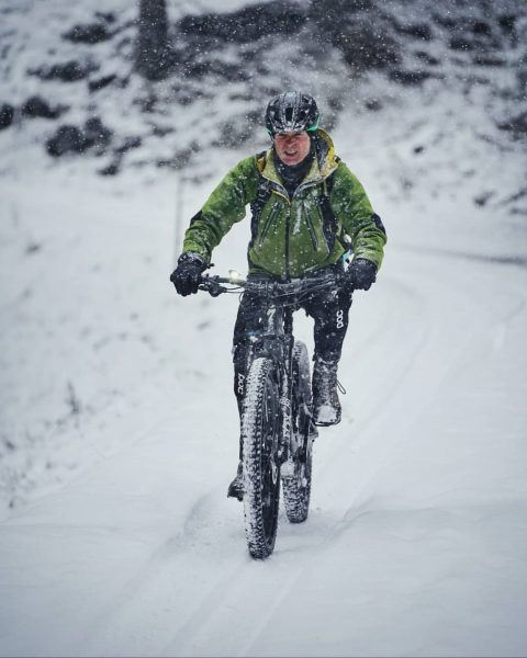 Vor zwei Tagen war @lutz.schmelzinger noch mit dem Mountainbike unterwegs - jetzt steigen wir langsam aber sicher...