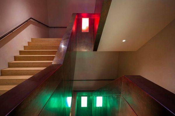 Lichtstimmung spüren. Immer neue Perspektiven auf die Architektur des vorarlberg museums. Das neue Farbspiel