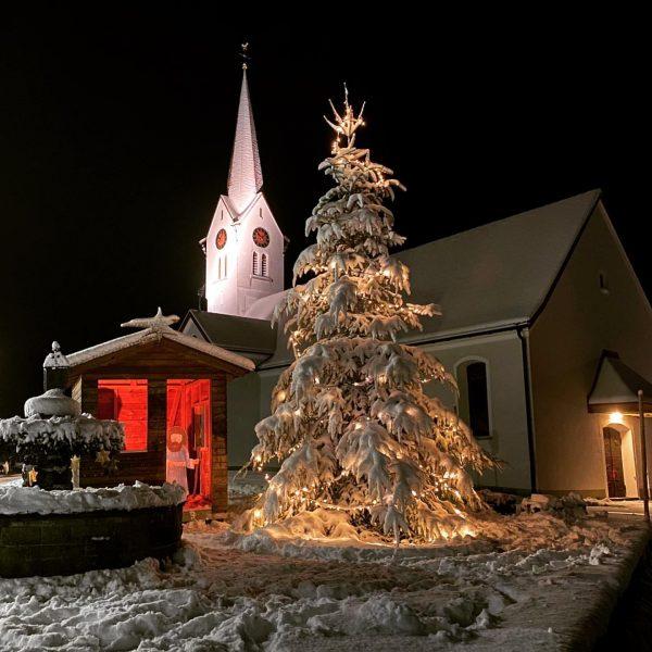 #froheweihnachten #krippenspiel #winterwonderland Sibratsgfäll, Vorarlberg, Austria