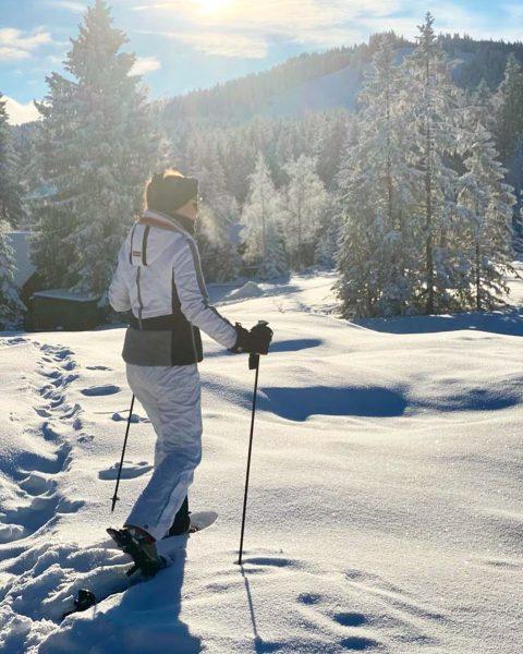 Schneeschuhwandern bei uns im Ländle am Bödile ❄️ Wie schön die Sonne heute ...