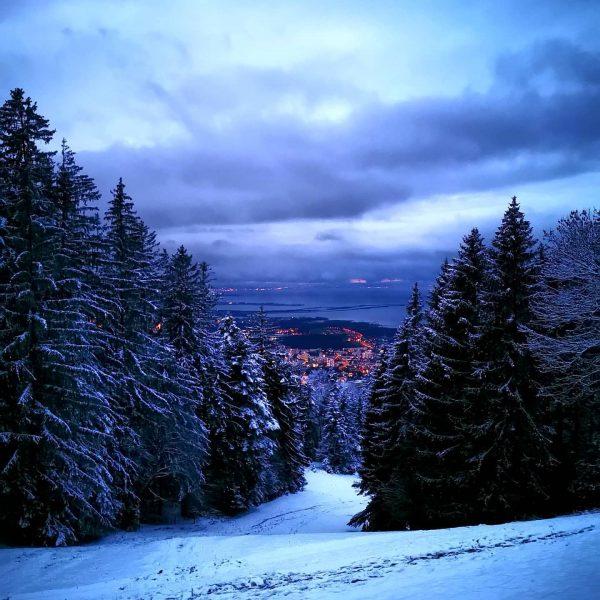 ❄️❄️ #bregenzvonoben #eveningwalk #winterwonderland 🌲🌨️ . . . #bregenzambodensee #bregenz #bregenzambodensee #lights #bodensee ...