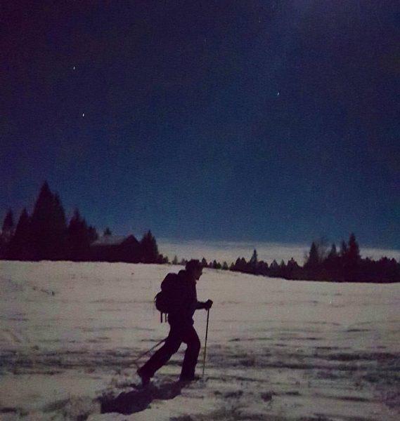 #Schneeschuhwandern unter'm #Sternenhimmel und beinahe #Vollmond. #Großartig und #wunderbar!!! ✨💚💚 • • • ...