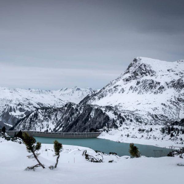 Happy new year... . Kops Stausee vom Skigebiet in Galtür. . . . ...