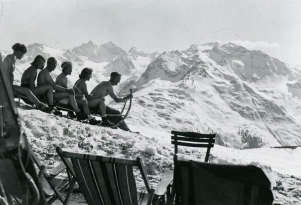 Montafonwerbung aus den frühen 1940er Jahren. Dieses - dann doch nicht für die ...