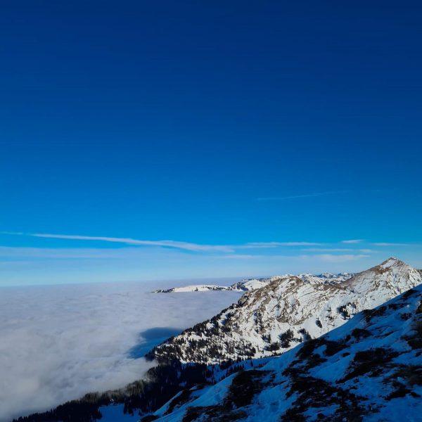 Während wir auf unsere Gäste warten genießen wir die perfekten Pisten im Skigebiet ...