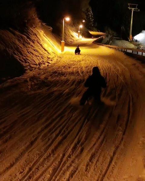 Rodeln Nights Rider 🛷 . . #rodler #rodlen #rodeln #snow #winter #austria #visitaustria ...