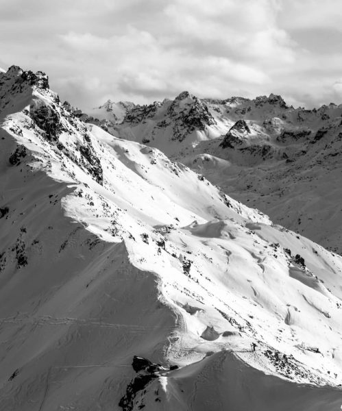 you don't need color to see the beauty of the Alps . . ...