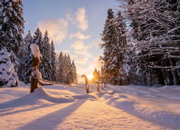 Ein traumhaftes Wochenende geht zu Ende. 📸 @fredfriedrichbohringer #sonnenuntergang #sunset #winter #schnee #snow ...