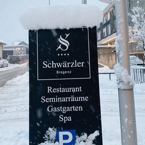When snow falls, nature listens. ❄️ Geniesst die zauberhafte Schnee-Stimmung 😊 #winterinbregenz #hotelschwaerzler ...