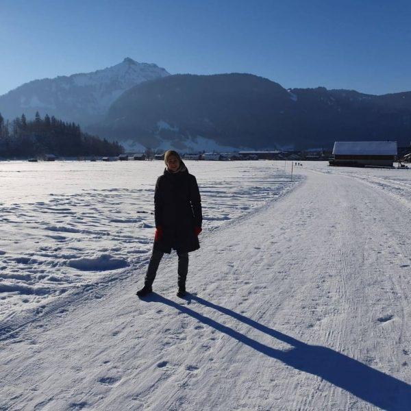 Ein herrlicher Wintertag an der frischen Luft. Bei einem Spaziergang direkt vom Hotel ...