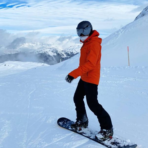On this great powder I dared to take out my board after many years 🏂🥵🌨️ Silvretta Montafon