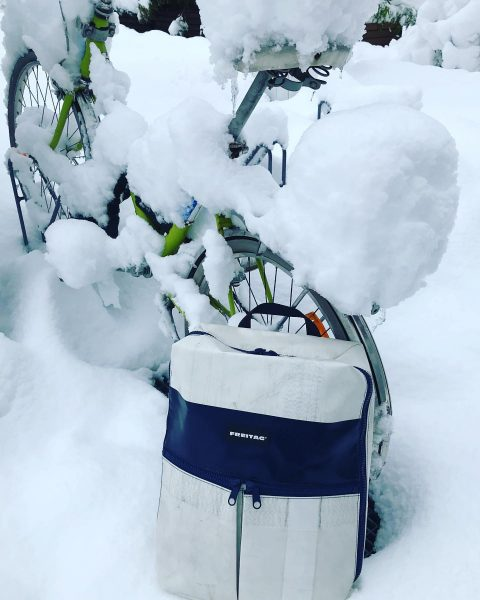 Little snow dosn't matter .. we deliver FREITAG F49 FRINGE @ urbanerie - ...