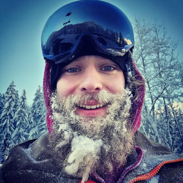#whitepowder #minus14degrees #beard #misterfreeze #goodtimes #snowboarding Skigebiet Damüls - Mellau