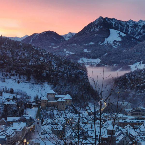 House fp - view with dawn #vorarlberg #feldkirch Feldkirch, Vorarlberg
