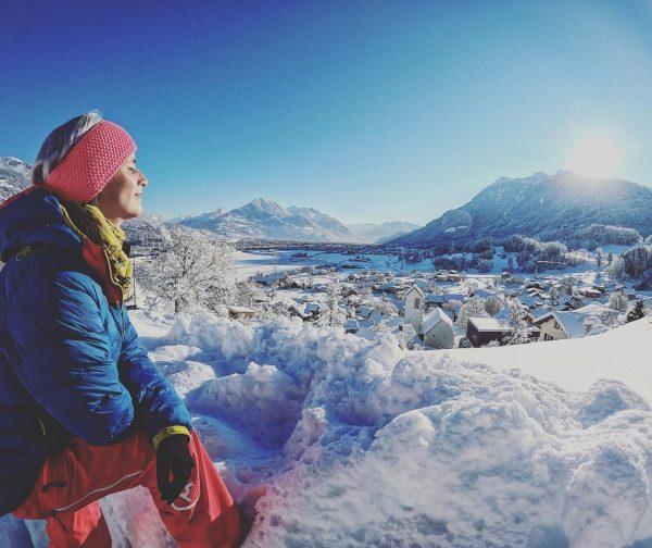 """""""Love my Girl & love this place"""" 🙏 #goprophotography #wintertime #tirolerin #panoramaview #beautifulnature #beautifulplaces #nenzing #vorarlberg #austria🇦🇹..."""