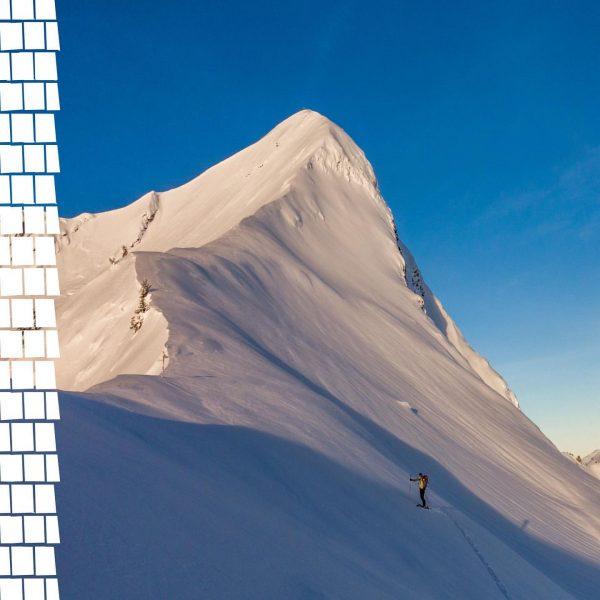Ein Blick um's Eck zeigt uns die letzten Schritte einer wunderbaren Skitour auf ...