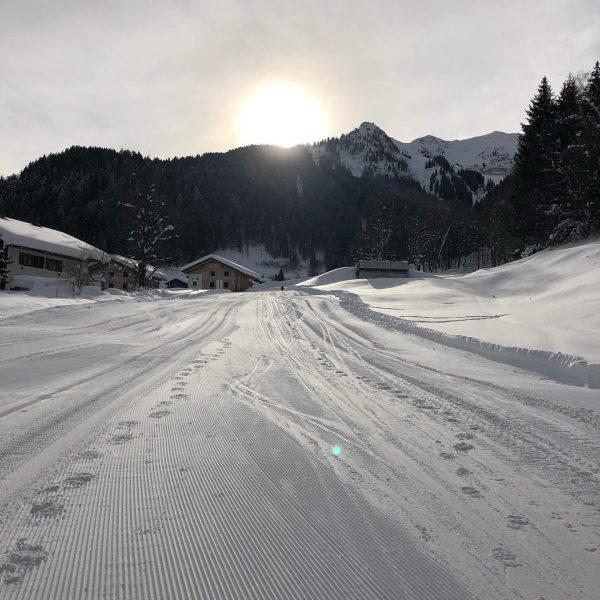 Spontane Skitour zum Gasthof Grabs (nachdem unser ursprünglicher Plan zur Lindauer Hütte etwas ...