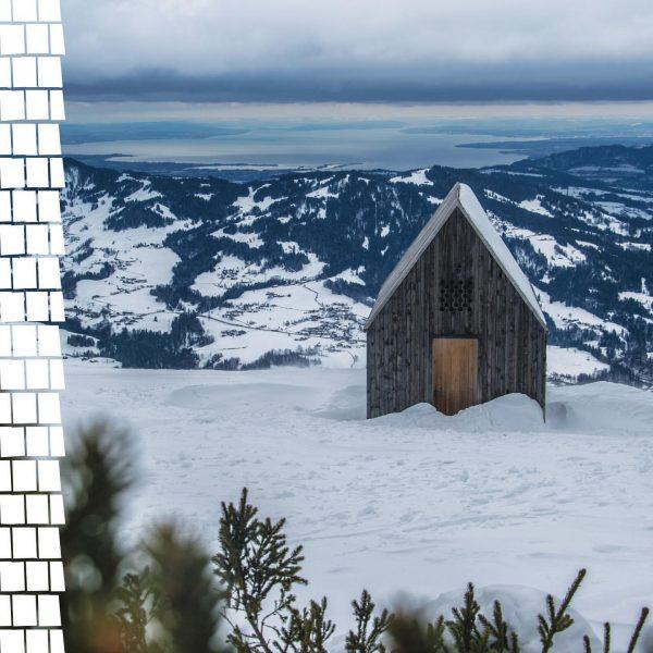 Ein Blick um's Eck zeigt uns die Theodul Kapelle der Niedere auf 1.600m ...