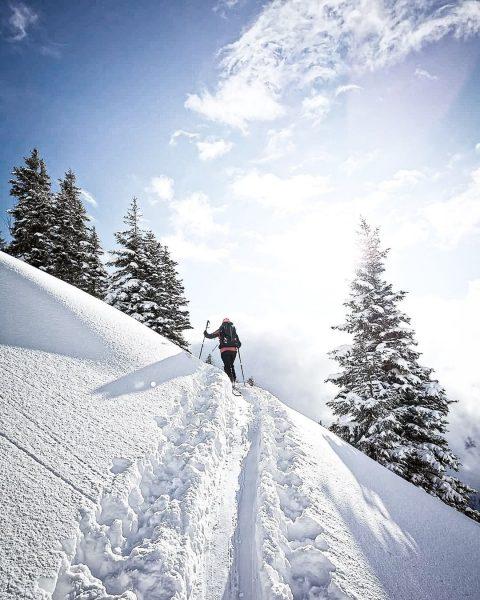 #wintermomente Die Sonne im Gesicht und der Anblick einer märchenhaften Winterlandschaft. ❄☀ Was ...