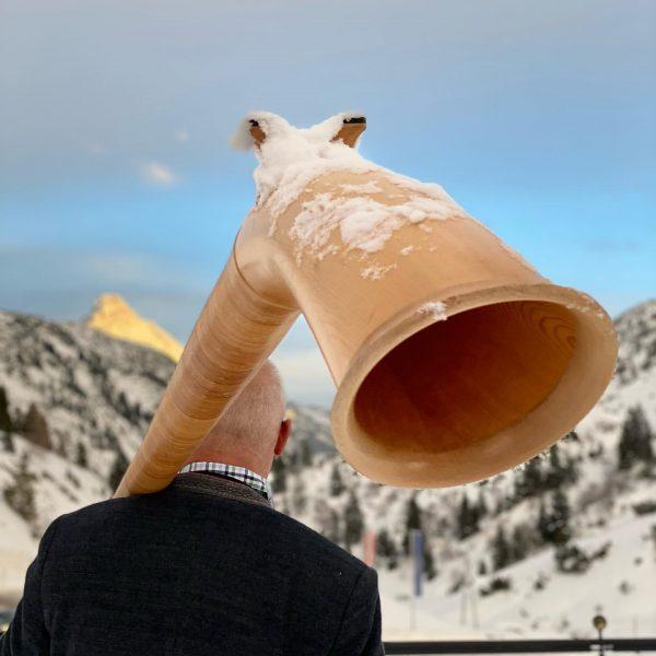 Diese wunderbaren Töne des Alphorns dürfen wir des Öfteren hier in der Jägeralpe ...