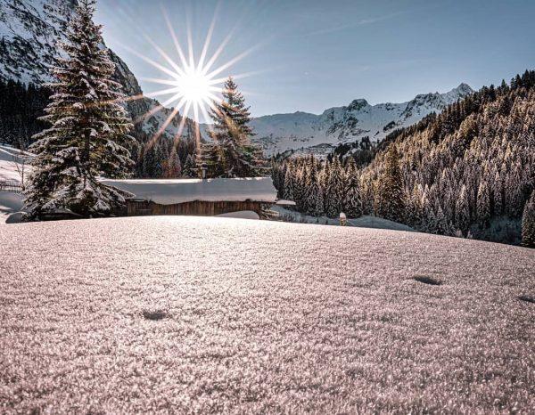 Winterwonderland im Bärgunttal, gemacht habe ich das Bild im Dezember 2019, damals durfte ...