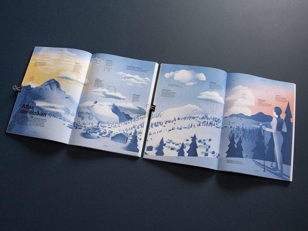 Verschiedene Wetterphänomene in Lech Zürs die ich für zwei Doppelseiten im Magazin ZEITRAUM ...