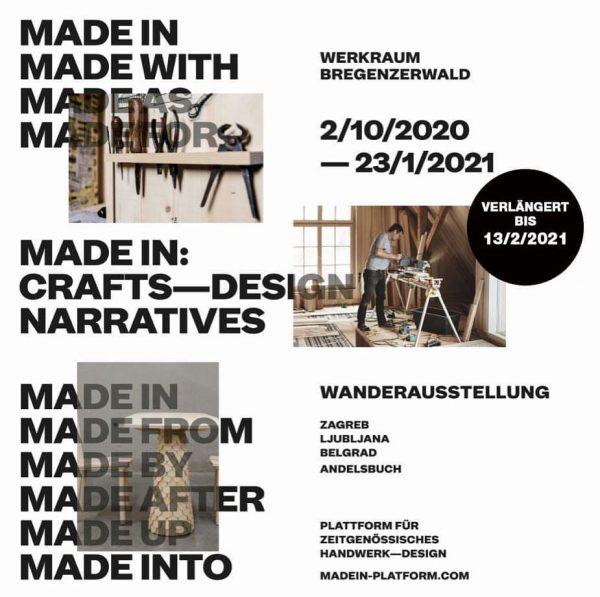 Ab morgen, Dienstag ist das Werkraumhaus mit der Ausstellung MADE IN und zum ...