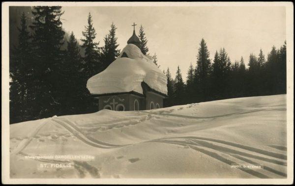 Fideliskapelle bei Gargellen im tiefen Winter... In Kooperation mit dem Prättigau, Feldkirch und ...