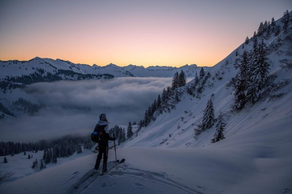 Inhale. Exhale. #sunrise #skitouring #skiing #ski #mountains #backcountryskiing #snow #freeride #skimo #skimountaineering #skitour ...