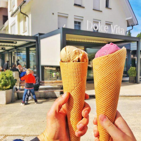 Perfektes Eis-Wetter in Hohenems, Rankweil, Vaduz und Buchs 🍦 #eisgenuss #dolcevita