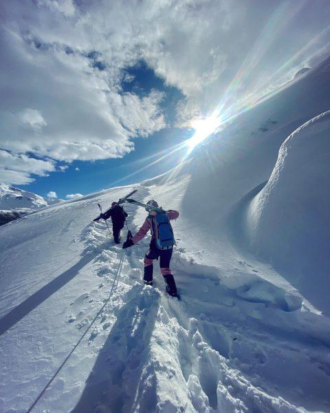 My happy place! 🏔💖 #mountains #arlberg #skimo #springseason #snow #unserarlberg #skiersridekästle Lech Zürs ...