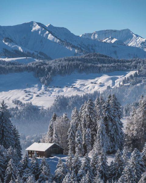 Throwback to the colder days 🏔️ ❄️ . . . #bregenzerwald #dornbirnerfirst #klausberg ...