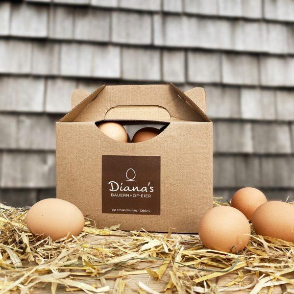 """""""Hittisauer Bauernhofeier"""" 🌾🐓🥚 Aktuell gibt's auch 1 kg-Boxen gefüllt mit Diana's Freilandeiern der Größe """"S"""". 👉 Jetzt..."""